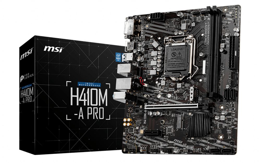 MSI H410M A Pro 10th Gen Motherboard View